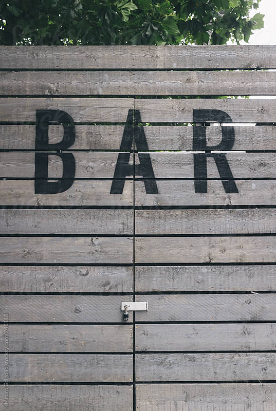 Bar sign by Mauro Grigollo for Stocksy United
