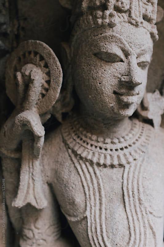 Sculpture of lord Vishnu by Alexander Grabchilev for Stocksy United