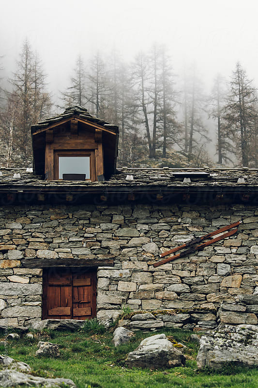 Traditional stones cabin of Alps  by Blue Collectors for Stocksy United