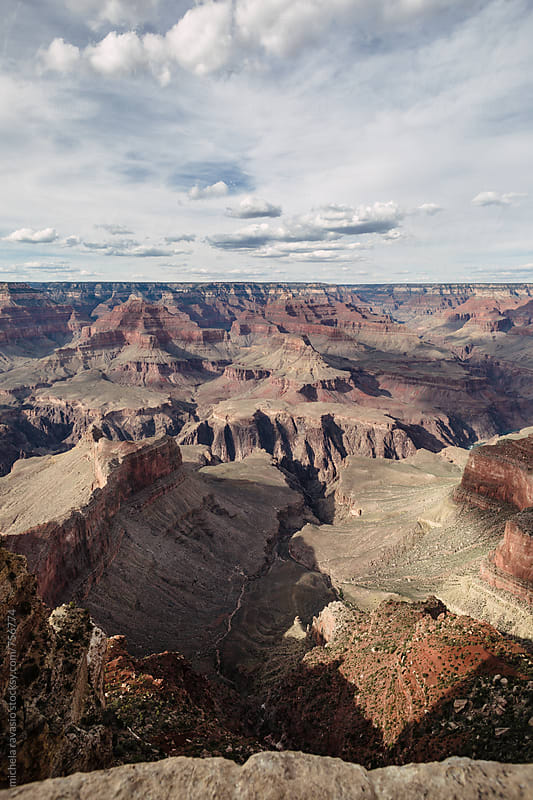 View of rocky landscape in Grand Canyon by michela ravasio for Stocksy United