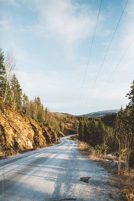 On the road in Norway by Sophia van den Hoek for Stocksy United