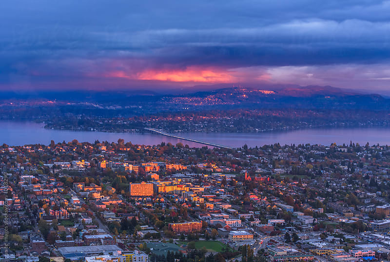 aerial view of Seattle by unite  images for Stocksy United