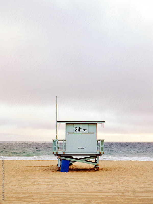 Lifeguard Stand at Sunset at Redondo Beach, California by Jared Harrell for Stocksy United
