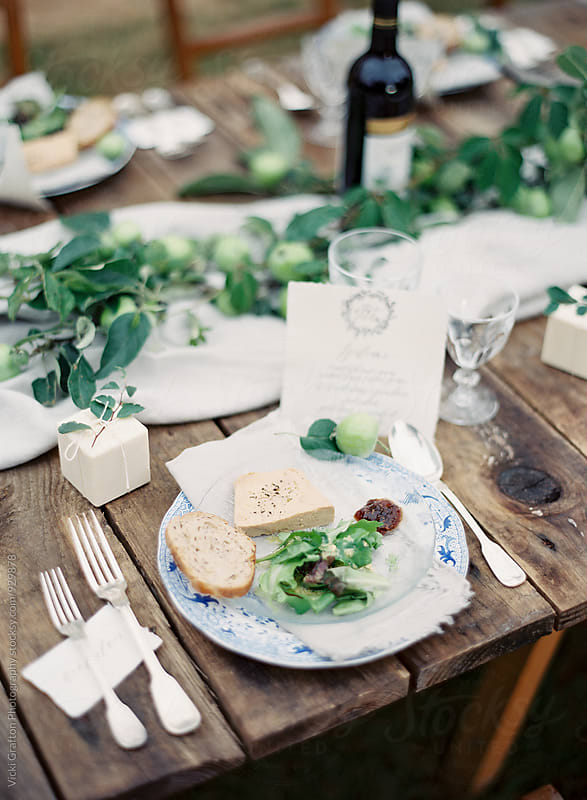 Alfresco French Dinner  by Vicki Grafton Photography for Stocksy United