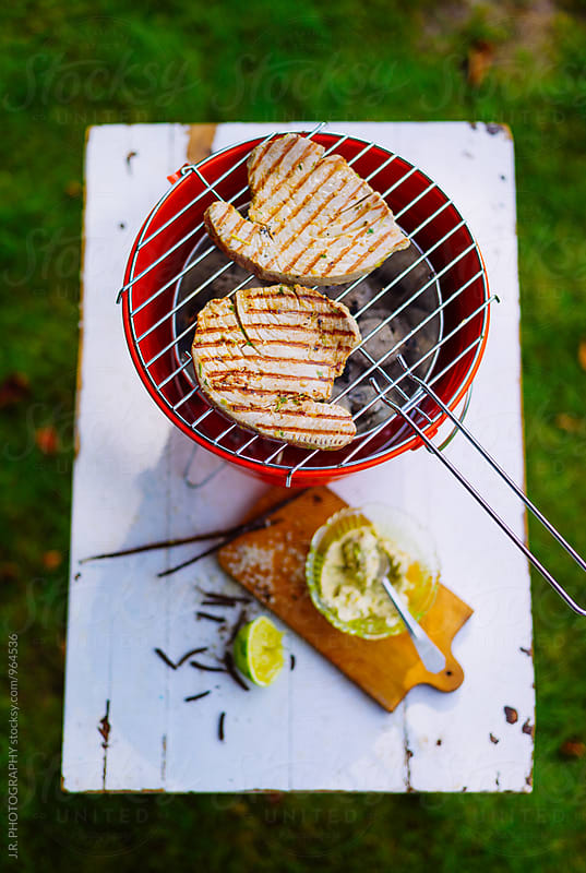 Tuna steak on grill by J.R. PHOTOGRAPHY for Stocksy United