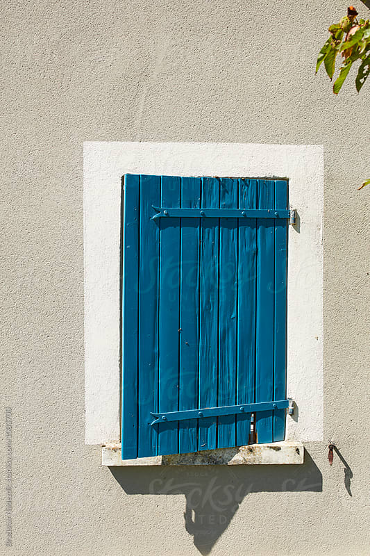 Blue wooden window by Bratislav Nadezdic for Stocksy United