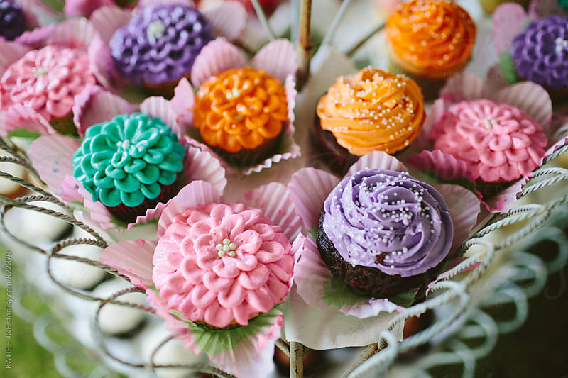 Colorful Cupcakes by KATIE + JOE for Stocksy United