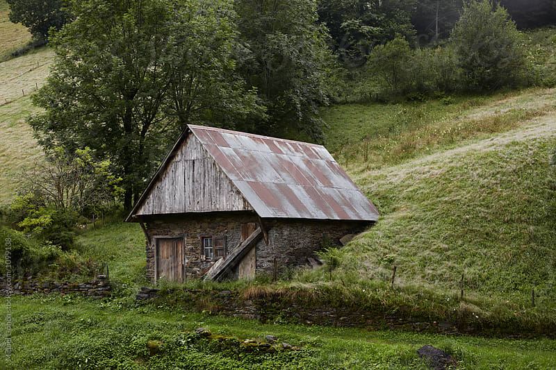 Old hut in the french Pyrenees by Miquel Llonch for Stocksy United