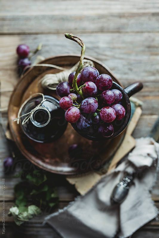 Grape with wine by Tatjana Zlatkovic for Stocksy United