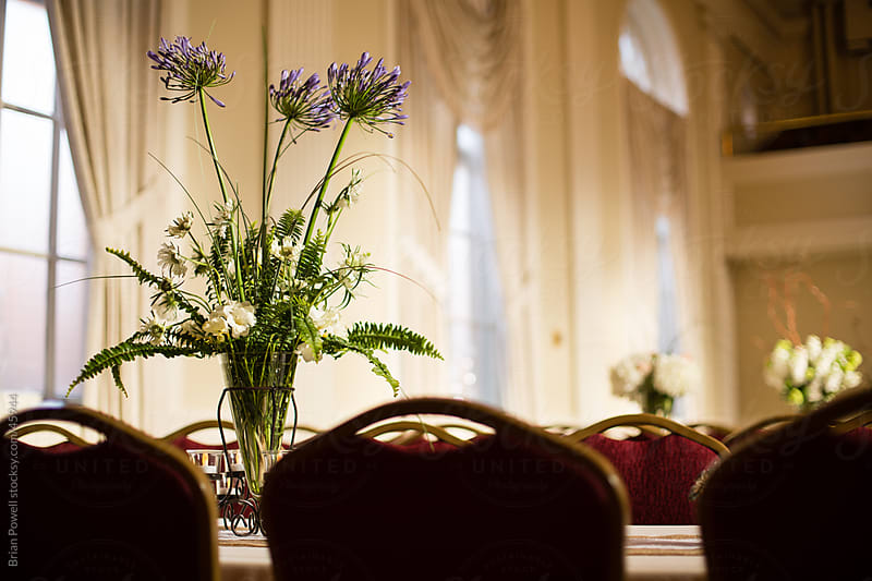 wedding reception table decor by Brian Powell for Stocksy United