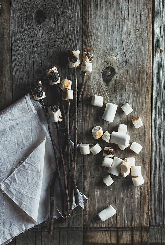 Roasted marshmallows by Tatjana Zlatkovic for Stocksy United