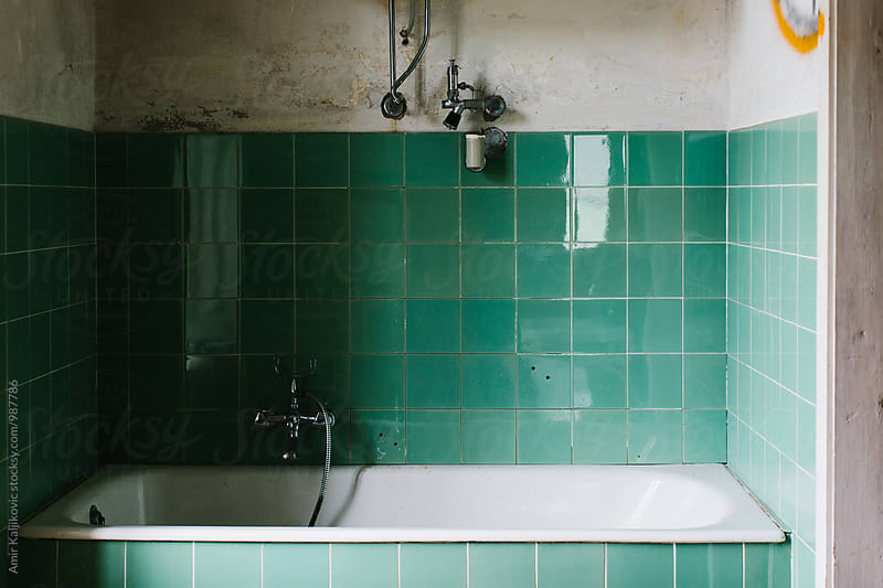 Old bathroom interior by Amir Kaljikovic for Stocksy United