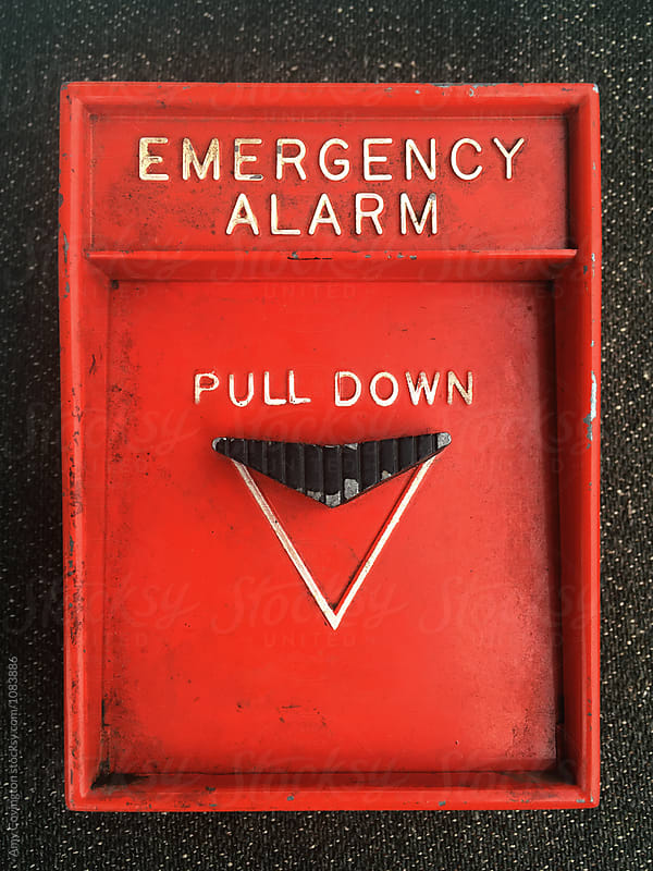 Vintage emergency alarm by Amy Covington for Stocksy United