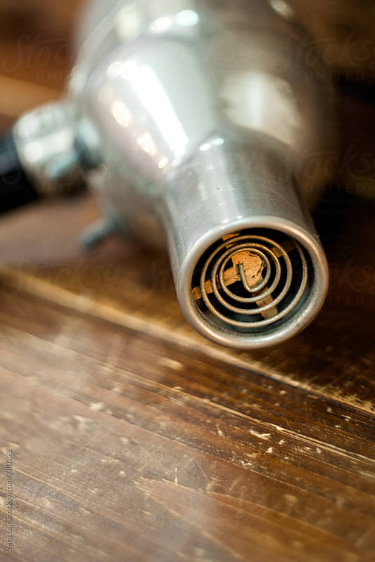 Close up of a vintage hairdryer by Vera Lair for Stocksy United