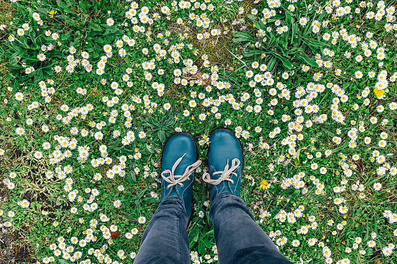 Stomping on flowers like a big jerk by Jen Grantham for Stocksy United