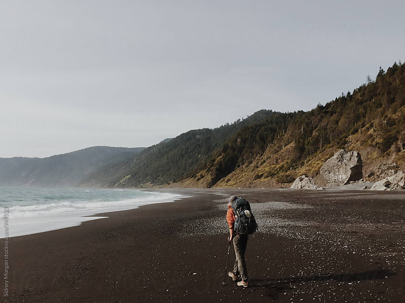 Greg Hiking the Coast by Sidney Morgan for Stocksy United