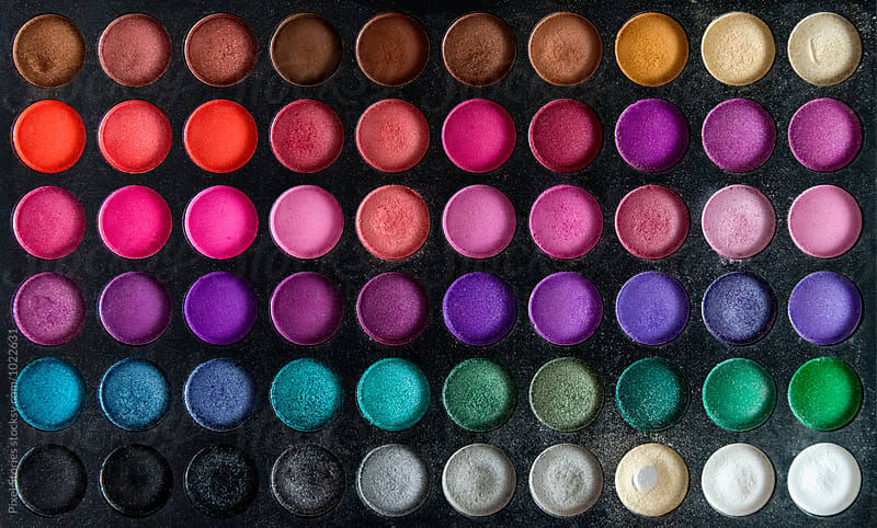 Colorful make-up set background by Pixel Stories for Stocksy United
