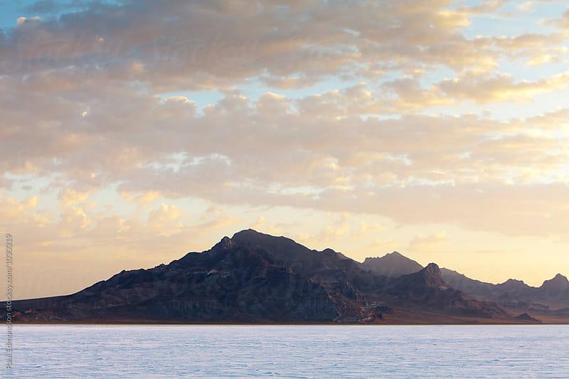 Bonnevlle Salt Flats at dusk, near Wendover, UT by Paul Edmondson for Stocksy United