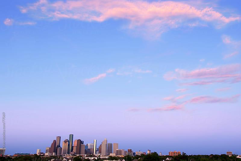 Houston skyline in twilight by yuko hirao for Stocksy United