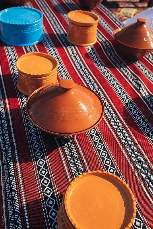 Handmade colorful pots  by Maja Topcagic for Stocksy United