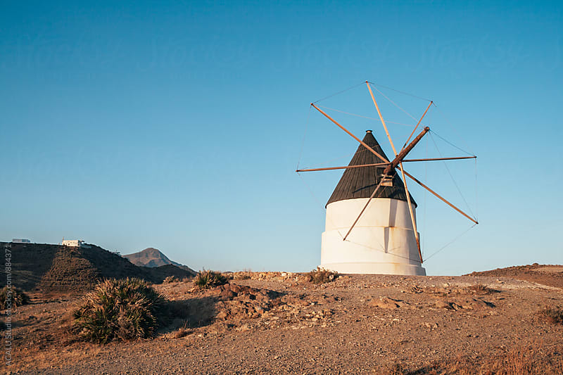Typical spanish windmill by ACALU Studio for Stocksy United