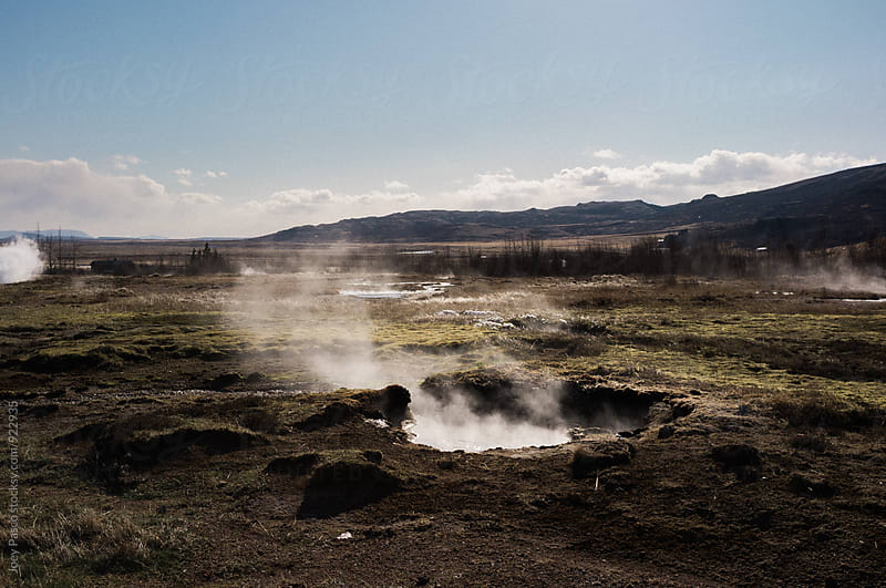 Steaming geyser, Iceland by Joey Pasco for Stocksy United