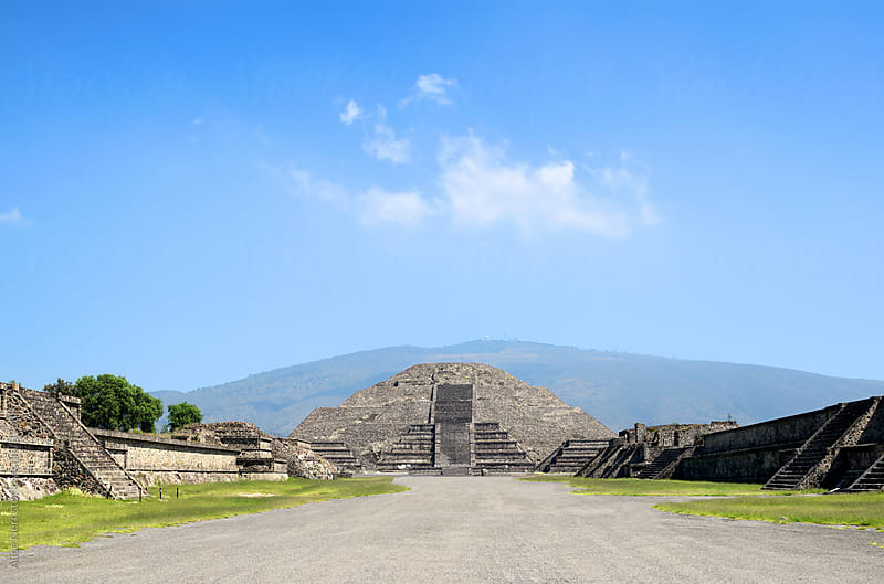Stunning pyramid of the Moon at Teotihuacan  by Alice Nerr for Stocksy United