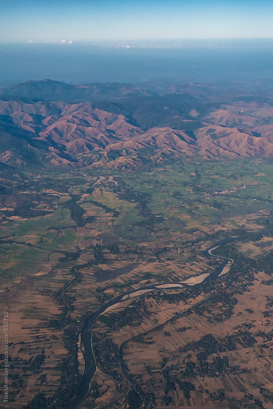 Flying over the Philippines - Aerial View of the Mountainous Landscape of Luzon by Tom Uhlenberg for Stocksy United