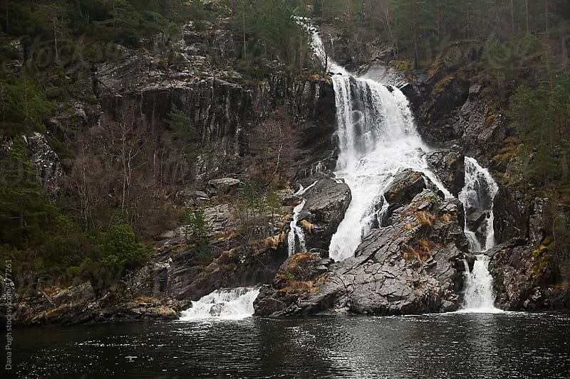 Waterfall in Norway by Dana Pugh for Stocksy United
