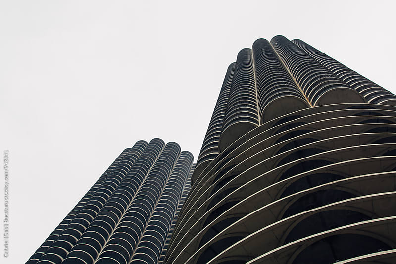 The Marina Towers in downtown Chicago by Gabriel (Gabi) Bucataru for Stocksy United