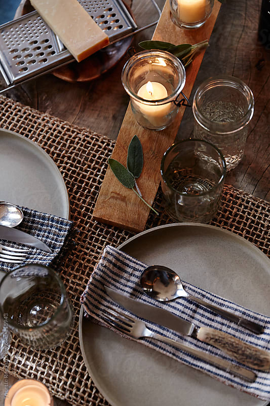 Still life of place setting at dinner party by Trinette Reed for Stocksy United