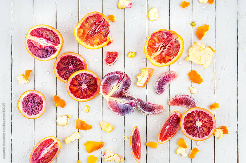 Fresh Organic Blood Orange Group by suzanne clements for Stocksy United