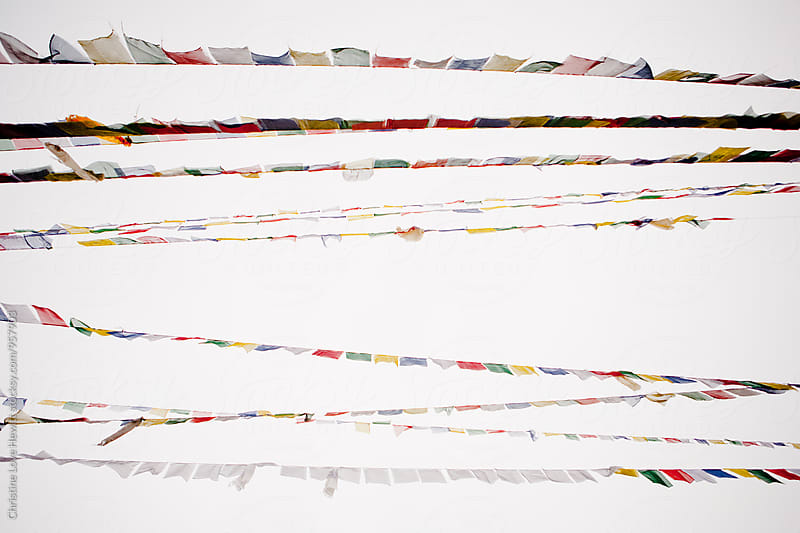 Prayer flags by Christine Hewitt for Stocksy United