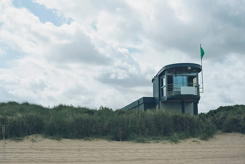 Lifeguard house on the beach by GIC for Stocksy United