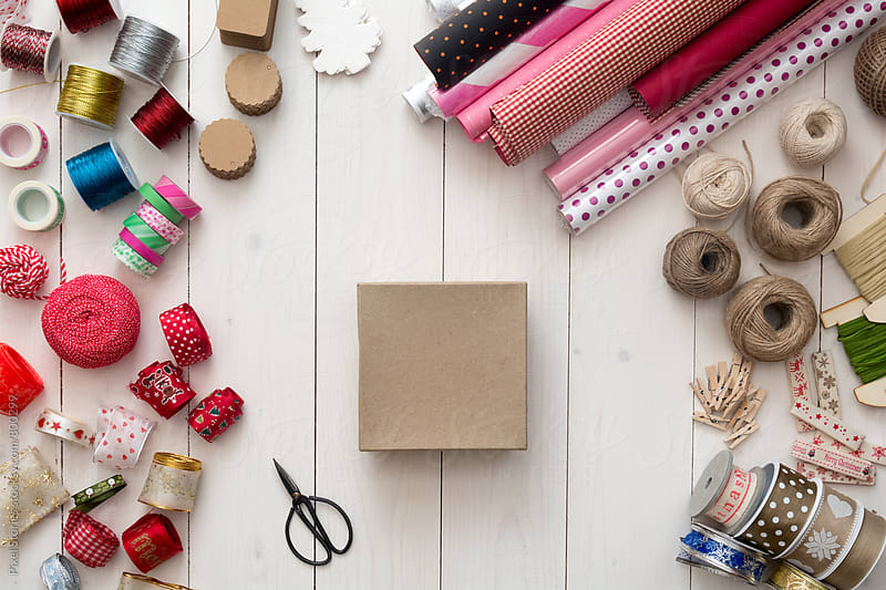 Gift preparations by Pixel Stories for Stocksy United