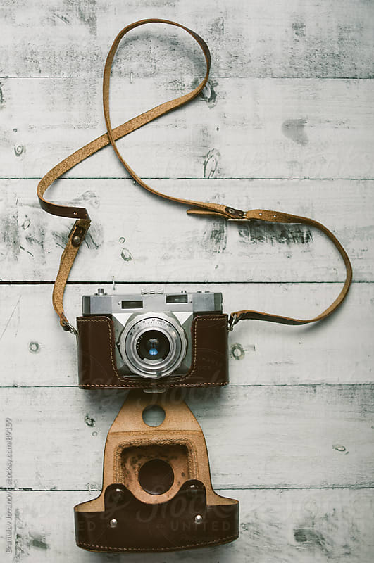 Retro Camera on a Wooden Table by Brkati Krokodil for Stocksy United