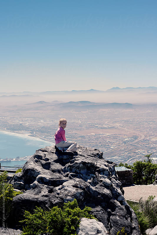 Table Mountain look out, tourist photo by Gillian Vann for Stocksy United
