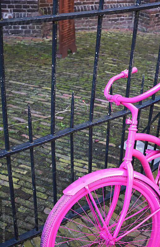 Pink bicycle by Marcel for Stocksy United