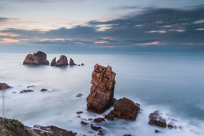 Sunset in Los Urros, Costa Quebrada (Cantabria) by Marilar Irastorza for Stocksy United