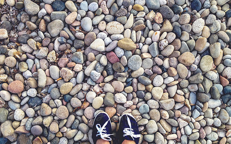 walking on the beach by Luca Pierro for Stocksy United