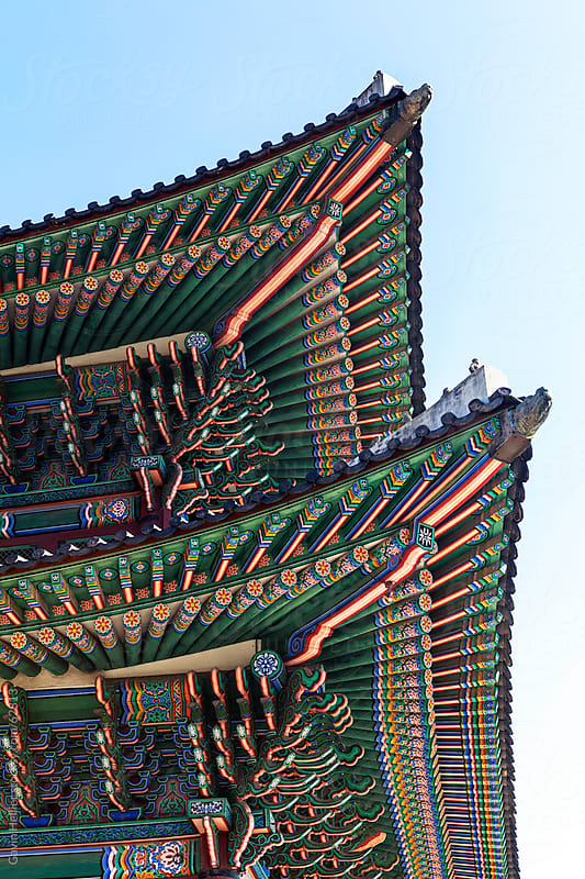 Gyeongbokgung Palace, Palace of Shining Happiness, Seoul, South Korea, Asia by Gavin Hellier for Stocksy United