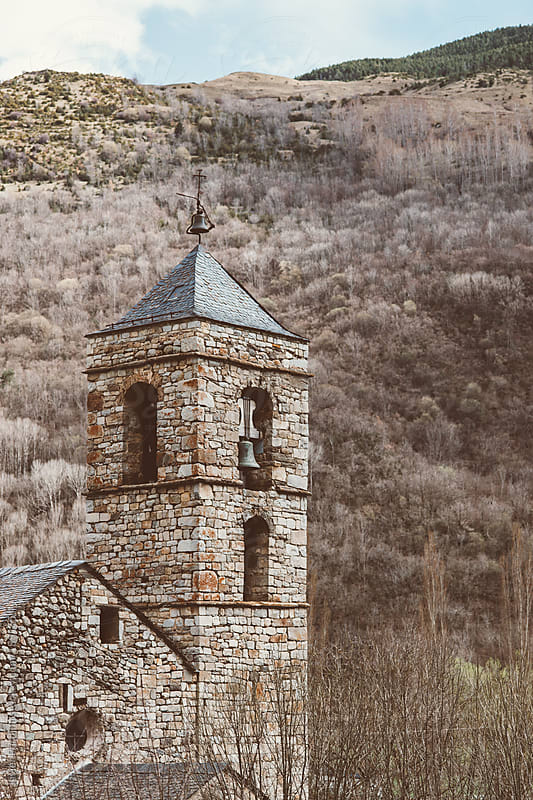 a little church in the pyrenees by Javier Pardina for Stocksy United