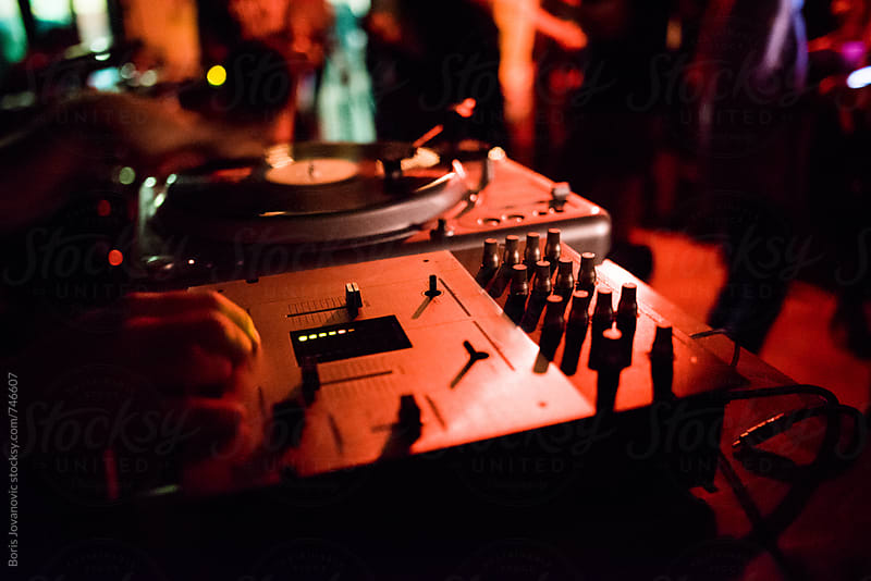 Dj equipment in the club by Boris Jovanovic for Stocksy United