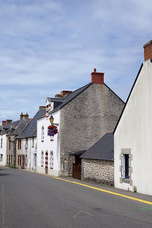 Sunny street in Bretagne by Marcel for Stocksy United