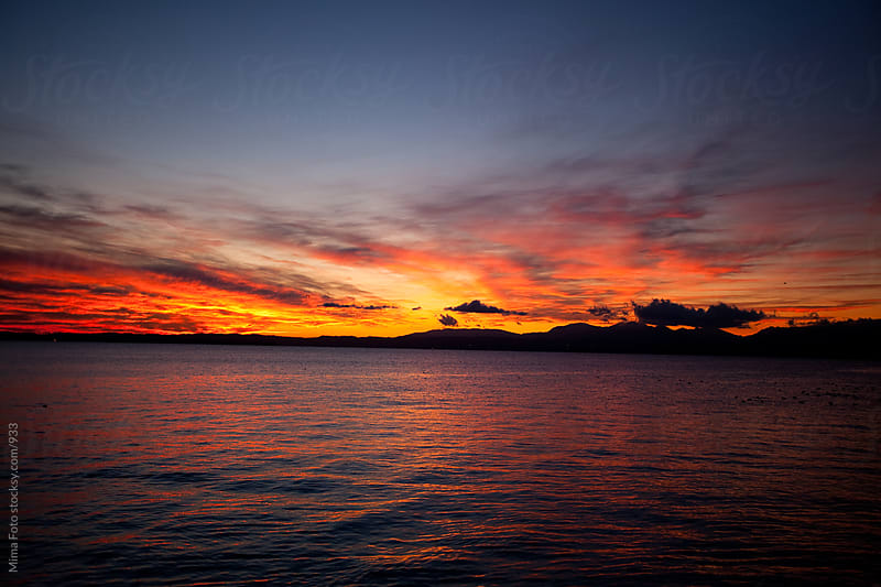 Sunset over Lago di Garda by Mima Foto for Stocksy United