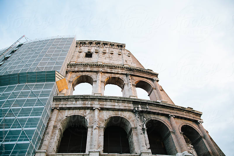 colosseum repairs by Sarah Lalone for Stocksy United