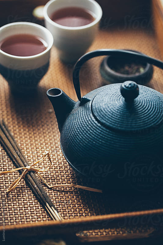 Teapot and Organic Black Tea by Lumina for Stocksy United