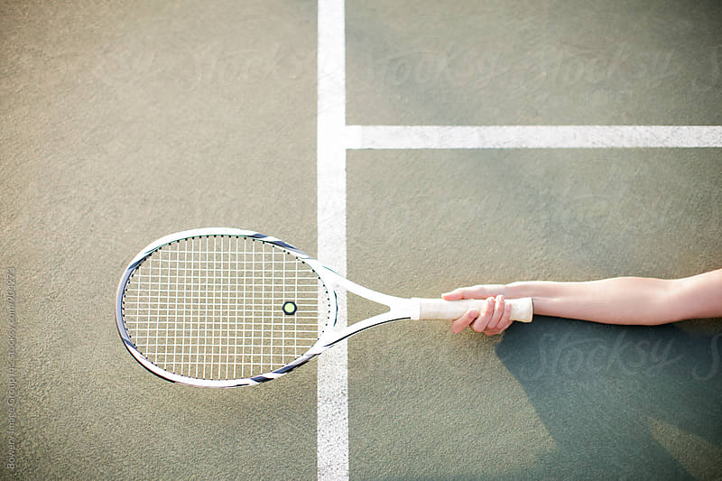 Tennis racket by Ann-Sophie Fjelloe-Jensen for Stocksy United