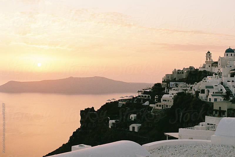 Sunset over Santorini by Kirstin Mckee for Stocksy United