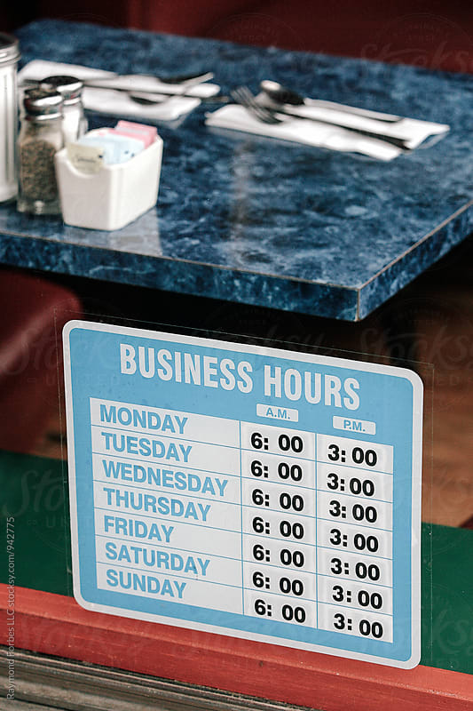 Business Hours at Diner by Raymond Forbes LLC for Stocksy United